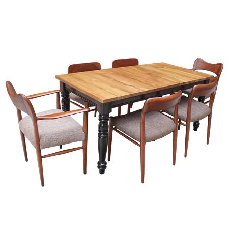 금자가구 - 카페테이블 BR 521 - 목재테이블 사각테이블 원목테이블